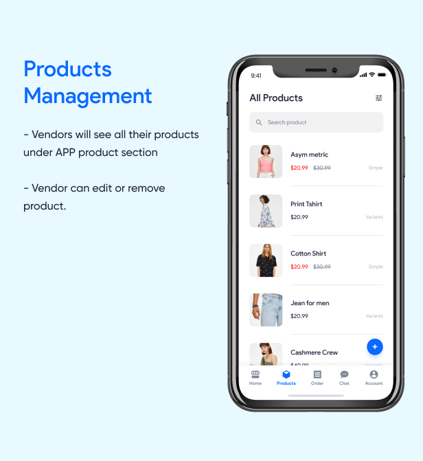 Products Management