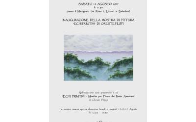 12-15/08/2017: Exhibit in Lizzano in Belvedere (Bo)