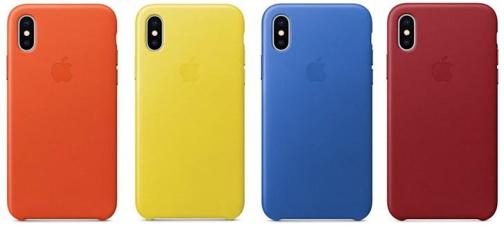 iPhone Xレザーケースの新色4種類の画像