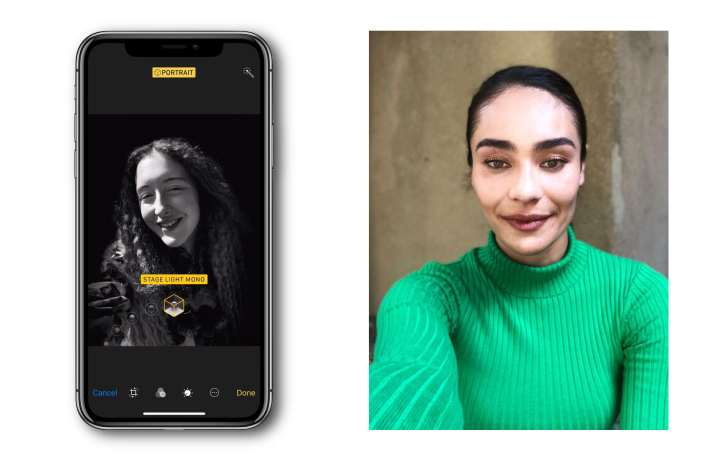 iPhone Xポートレート撮影の画像1