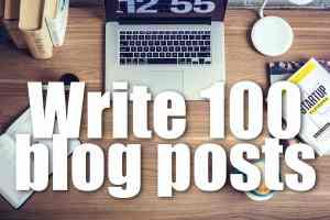 「ブログを100記事書く」のアイキャッチ