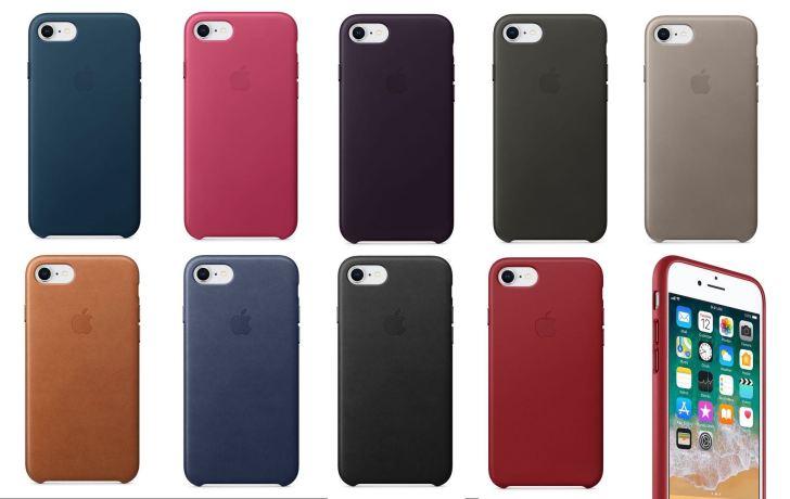 iPhone8:8PlusApple純正レザーケースのカラバリ画像