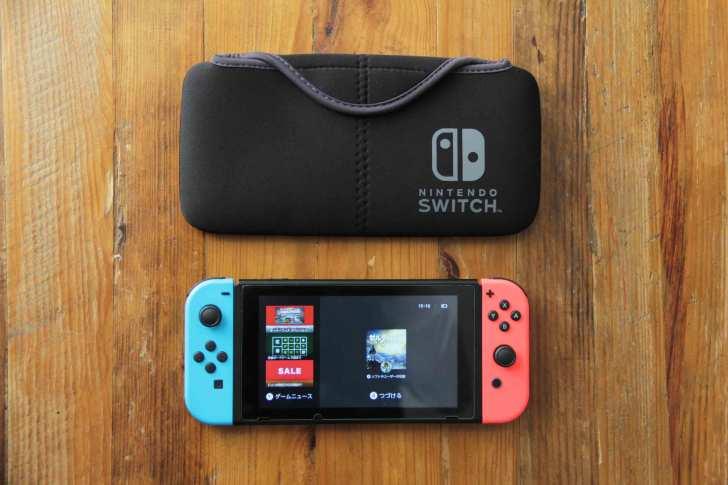 Nintendo switch専用ケースポーチ|QUICK POUCH本体のサイズ感の画像