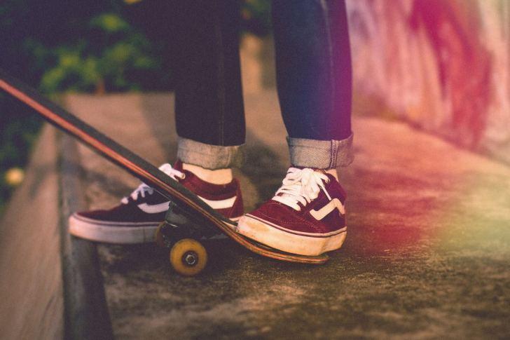 VANSのスケートシューズの画像