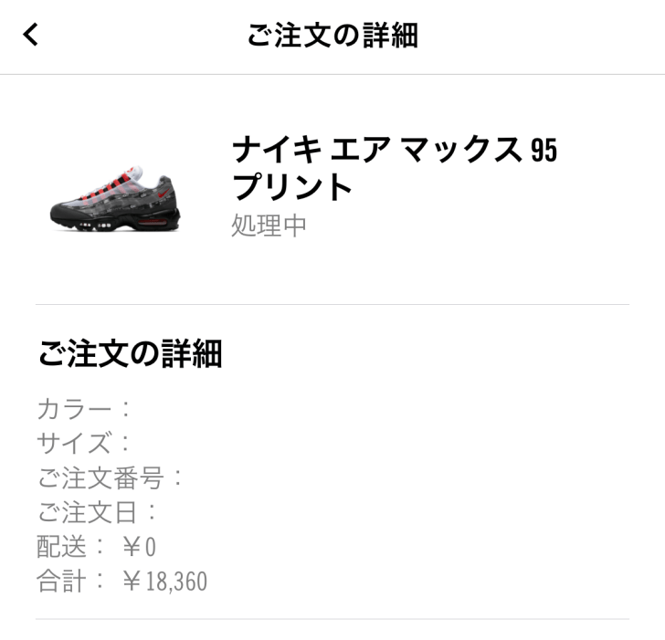 AirMax 95 atmos redの画像