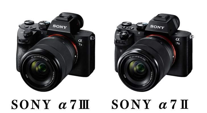 SONY α7Ⅲとα7Ⅱの写真