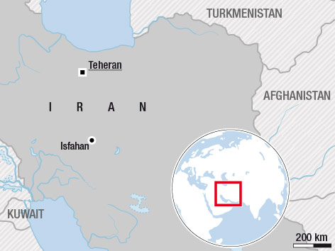 Karte des Iran
