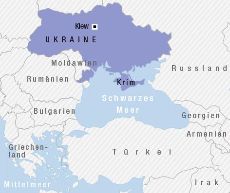 Karte der Länder um das Schwarze Meer