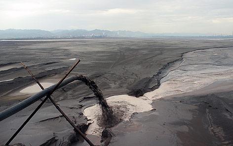 Toxische Schlacke in Baotou