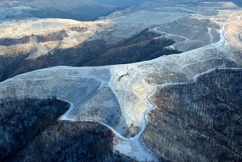 Abgetragene Bergspitze in West Virginia