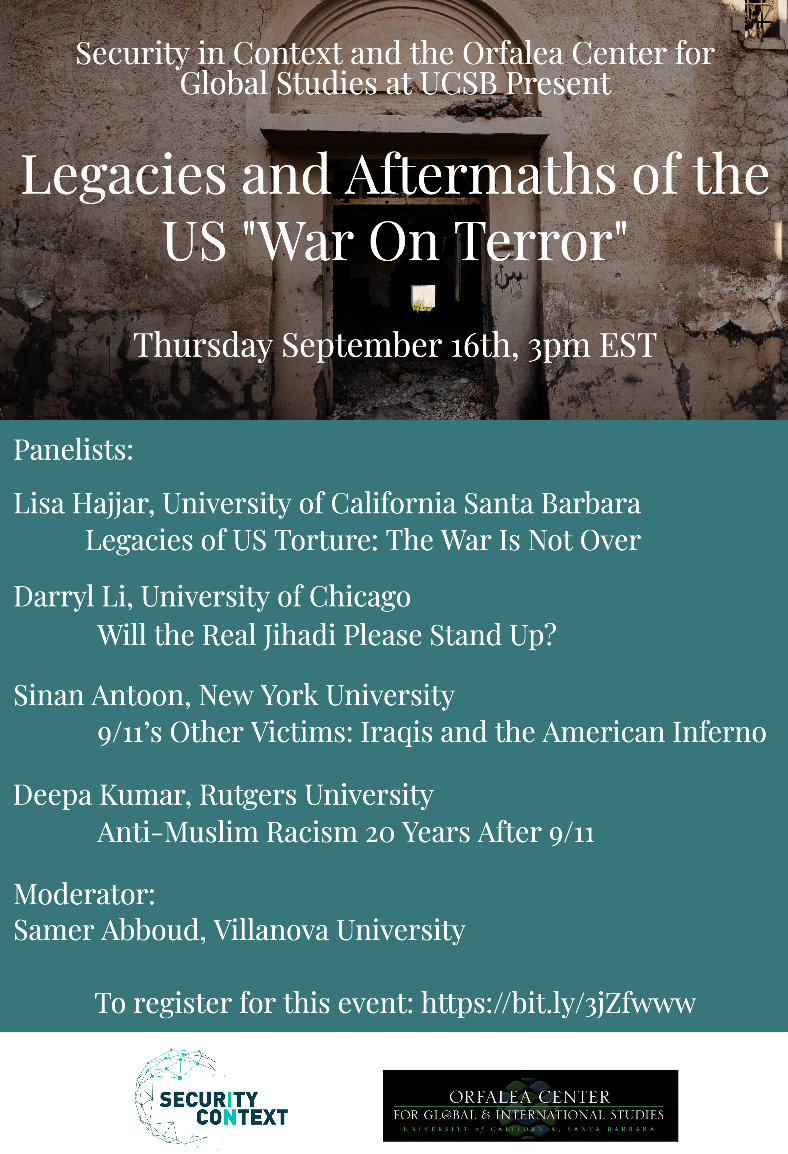 """Legacies and Aftermaths of the US """"War on Terror"""" – Transnationalizing the Study of the United States"""