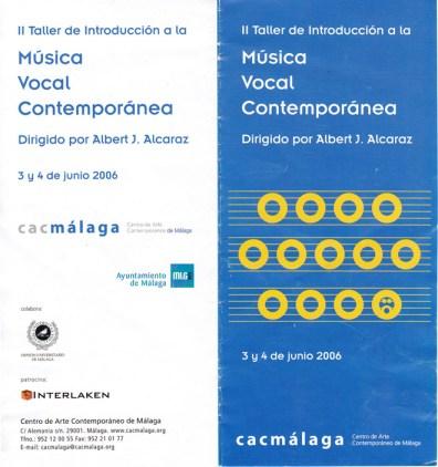 Díptico Taller 2006 Portada