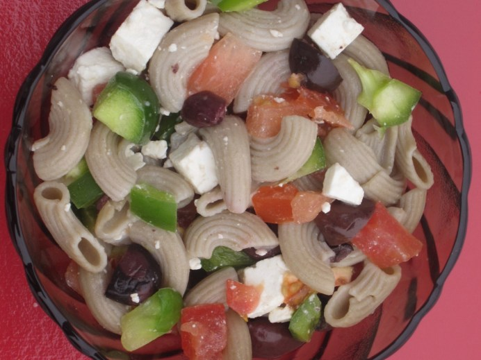 This pasta salad is a great addition to any potluck.