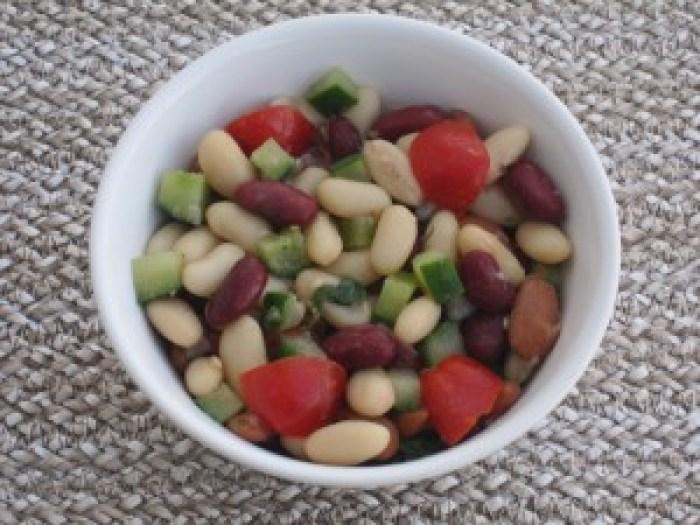 Bean salad. So rich in fiber! So nutritious.