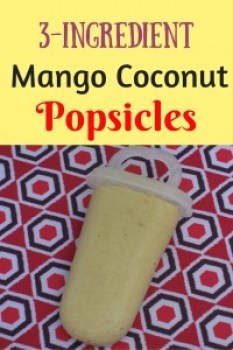 Sweet and delicious mango coconut popsicles. Or make a delicious smoothie using only 3 ingredients: mango, coconut cream, and bananas. Nothing beats this!