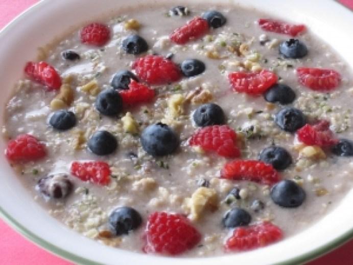 Loaded porridge full of nutrition.