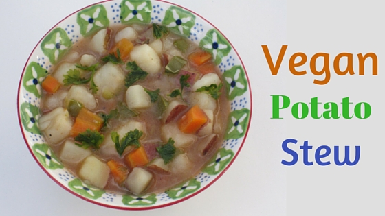 Vegan potato stew with a protein option