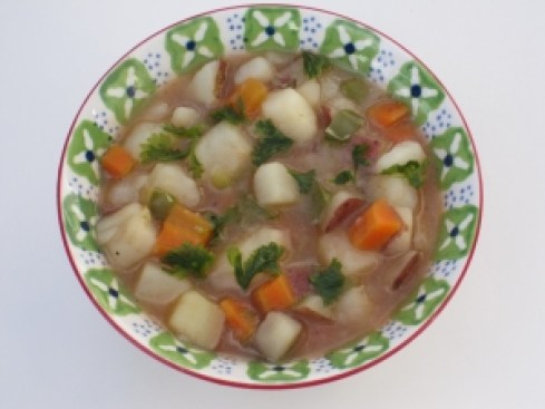 Potato stew makes a great supper rich in vegetables