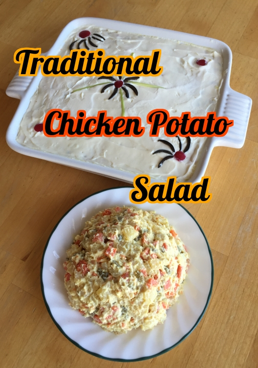 Nutritious, filling, and a bit tangy chicken potato salad.