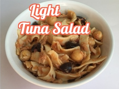 Tuna salad - flavourful and light.