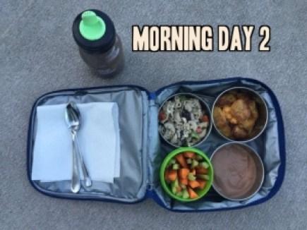School lunch day 2 morning