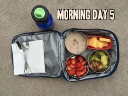School lunch day 5 morning