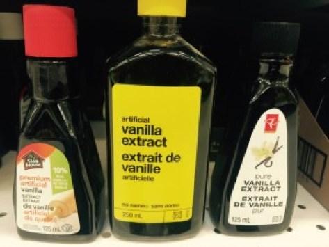 3 bottles of vanilla etract