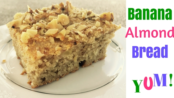 Banana almond bread- mildly sweet and nutritious
