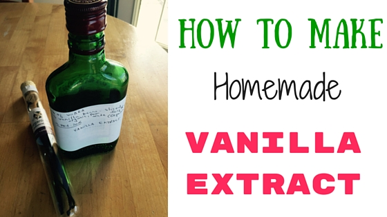 How to make inexpensive and healthy homemade vanilla extract.