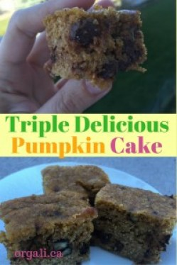 Triple delicious pumpkin cake that your whole family will devour