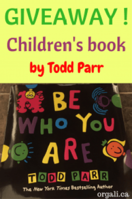 Giveaway with Todd Parr's latest book