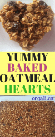 Delicious and nutritious beaked oatmeal hearts for Valentine's day