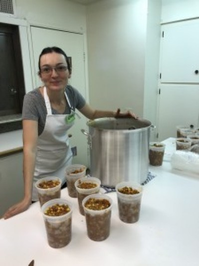 Preparing the delicious Orgali Foods in a commercial kitchen