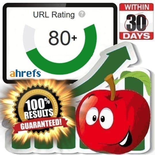 URL Rating 80+ (Ahrefs)