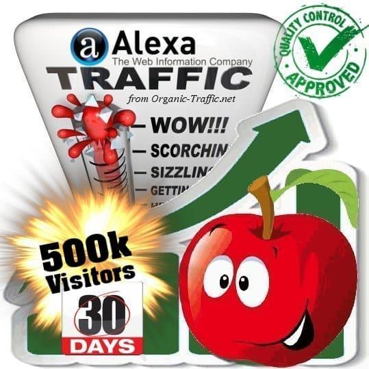 alexa search traffic visitors 30days 500k