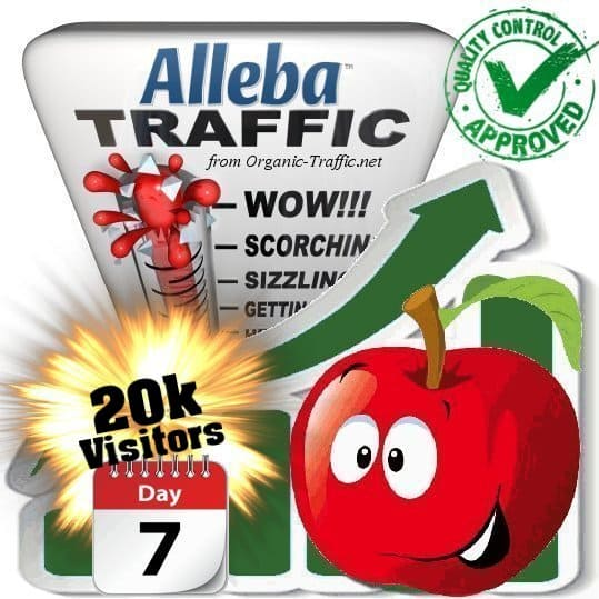 20k alleba search traffic visitors 7days