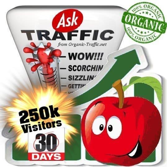 buy 250k ask organic traffic visitors 30days