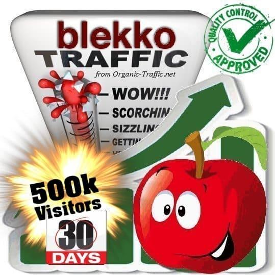 blekko search traffic visitors 30days 500k