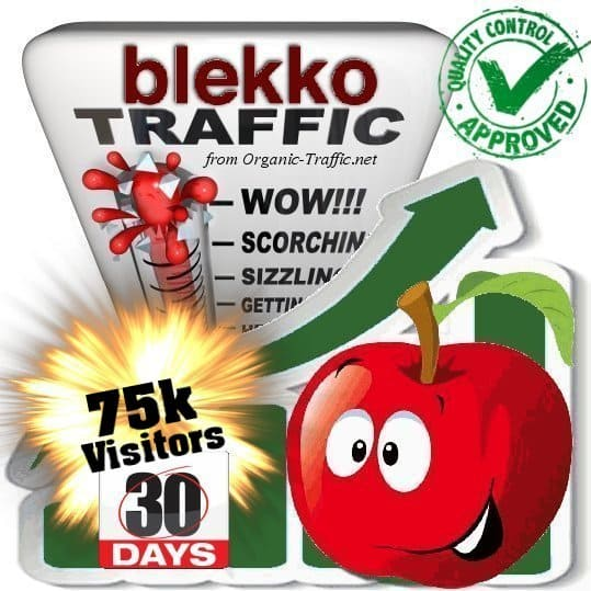 blekko search traffic visitors 30days 75k