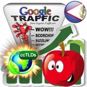 buy google american samoa organic traffic visitors