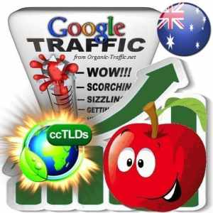 buy google australia organic traffic visitors