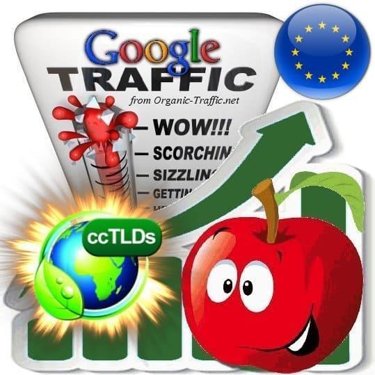 buy google european union organic traffic visitors