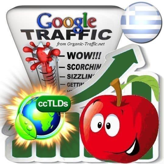 buy google greece organic traffic visitors