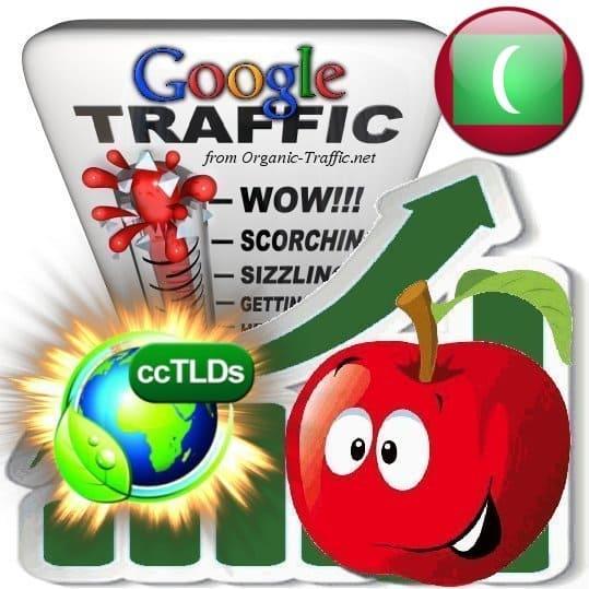 buy google maldives organic traffic visitors