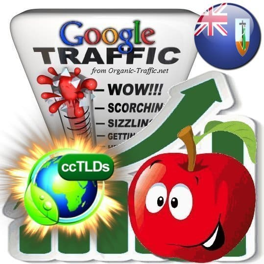 buy google montserrat organic traffic visitors