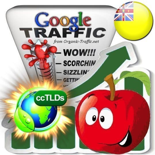 buy google niue organic traffic visitors