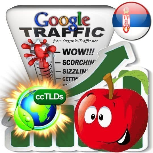 buy google serbia organic traffic visitors