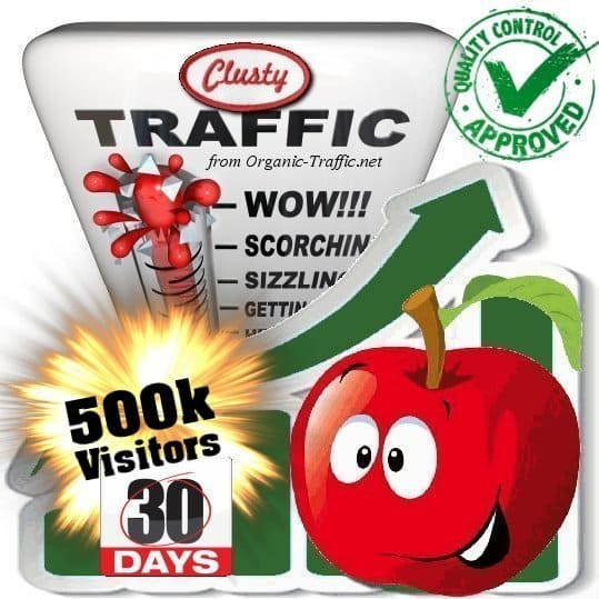 clusty search traffic visitors 30days 500k