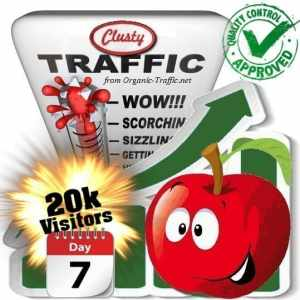 clusty search traffic visitors 7days 20k