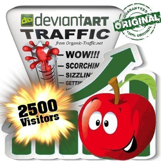 buy 2500 deviantart social traffic visitors
